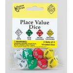Place Value Dice, Units to Thousands, Set of 8