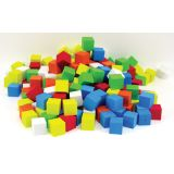Assorted Color Blank 16mm Foam Dice, Bag of 200