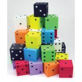 2 Foam Spot Dice, Assorted Colors, Bag of 36