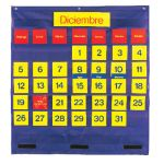 Bilingual Monthly Calendar Pocket Chart