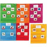 Magnetic Pocket Chart Squares, Set of 6
