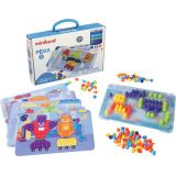 Pegs & Patterns Set, Bright Colors, 150 pieces