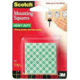 Scotch® Mounting Squares, 1 x 1, Pack of 16