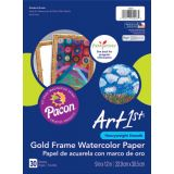 UCreate® Gold Frame Watercolor Paper, 9 x 12