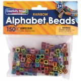 Creativity Street® Alphabet Beads, Assorted Rainbow