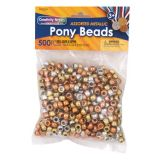 Creativity Street® Pony Beads, Metallic