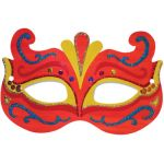 Die Cut Mardi Gras Masks, Pack of 24