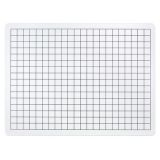 2-Sided Math Whiteboards, 1/2 Grid/Plain