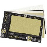 UCreate™ Glitter Poster Board Kit, 4 Assorted Colors,  14 x 22, 5 Sheets