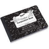 Pacon® Junior Composition Book, Black Marble, 3/8 Ruled 5 x 7.5, 100 Sheets/200 Pages
