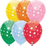 12 Stars All Over Balloons, Pack of 8