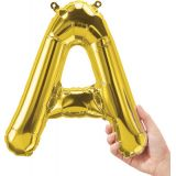 16 Foil Balloon, Gold Letter A