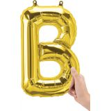 16 Foil Balloon, Gold Letter B