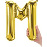 16 Foil Balloon, Gold Letter M
