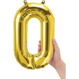 16 Foil Balloon, Gold Letter O
