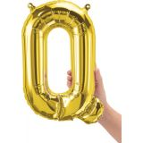 16 Foil Balloon, Gold Letter Q