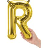 16 Foil Balloon, Gold Letter R
