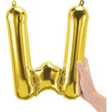 16 Foil Balloon, Gold Letter W