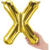 16 Foil Balloon, Gold Letter X