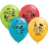 12 Mickey Mouse Happy Birthday Balloons, Pack of 6