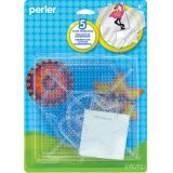 Small & Large Basic Shapes Clear Pegboards, pack of 5