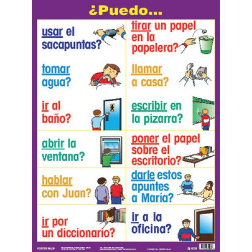 Essential Classroom Posters, Set I, Spanish, PSZPS37