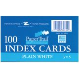 Index Cards, 3 x 5, Unruled