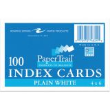 Index Cards, 4 x 6, Unruled