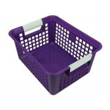 Tattle® Book Basket with Label Holder, Purple