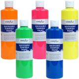 Handy Art® Washable Tempera Paint, Fluorescent Yellow
