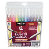 Sargent Art® Classic Brush Tip Markers, 12 count