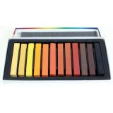Sargent Art® Square Chalk Pastels, 12 earth tone colors