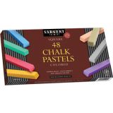 Sargent Art® Square Chalk Pastels, 48-Count Assorted Set