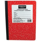 Wide Ruled Hard Cover Composition Notebook, 100 sheets, Red