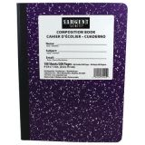 Wide Ruled Hard Cover Composition Notebook, 100 sheets, Violet