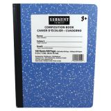Wide Ruled Hard Cover Composition Notebook, 100 sheets, Blue