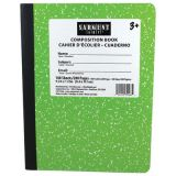 Wide Ruled Hard Cover Composition Notebook, 100 sheets, Green