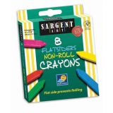 Sargent Art® Flatsiders Non-Roll Crayons