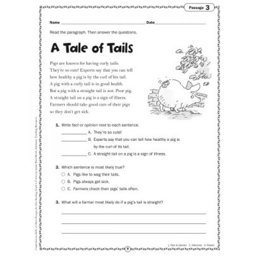 Comprehension Skills: Short Passages for Close Reading, Grade 2, SC ...