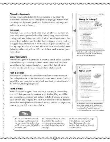 Comprehension Skills: Short Passages for Close Reading