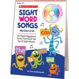 Sight Word Songs Flip Charts, 1st 50 words