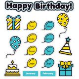 Aqua Oasis Birthday Graph Bulletin Board Set