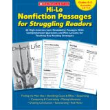 Hi-Lo Nonfiction Passages for Struggling Readers, Grades 4-5