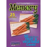 Photographic Memory Matching Game, Fruit & Vegetables