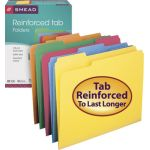 Smead® Letter Size File Folders, Assorted Colors, Box of 100