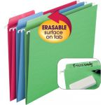 Smead® Erasable FasTab® Hanging Folders, Assorted Colors, 18 ct.