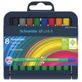 Schneider® Link-It 1.0mm Fibrepen Pens, 8 colors