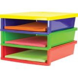 Quick Stack Construction Paper Organizer, Bright Colors