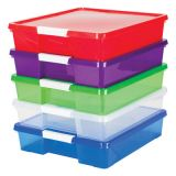 Stack & Store Classroom Project Box, Set of 5 assorted colors