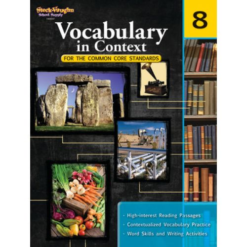 Vocabulary In Context For The Common Core Standards Grade 8